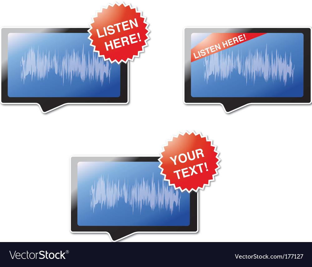 Listen here vector | Price: 1 Credit (USD $1)