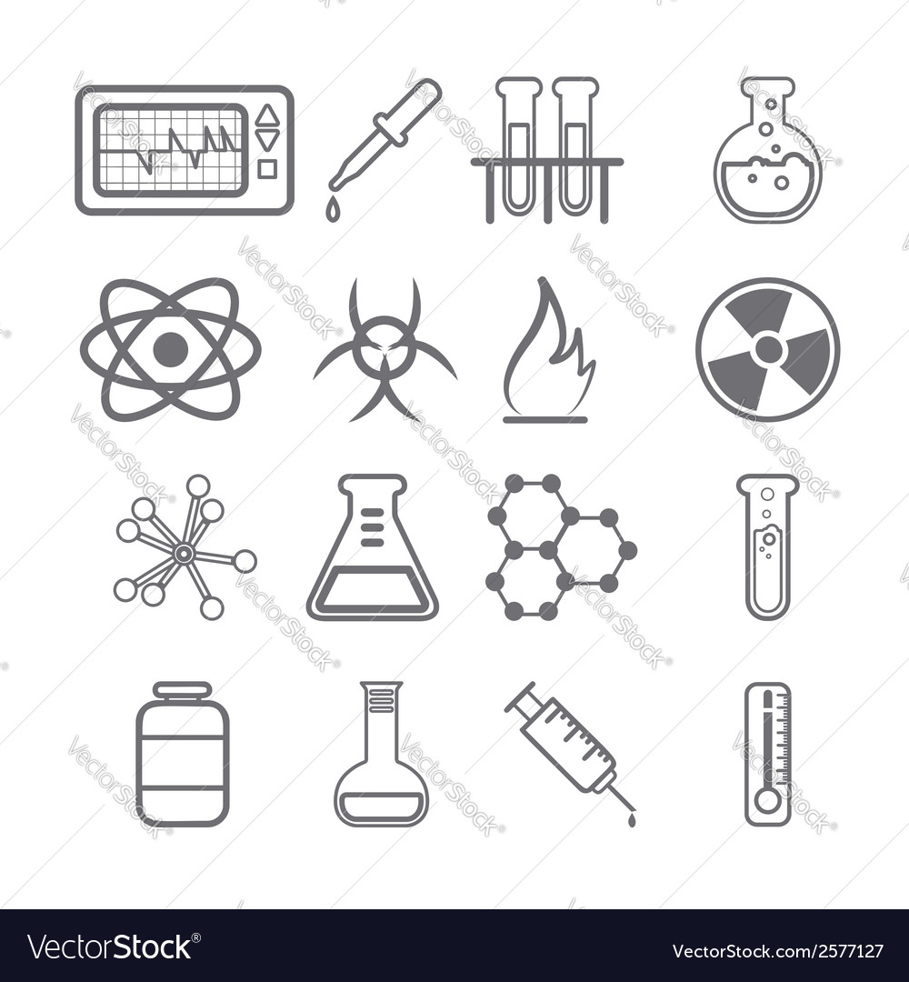 Science icons black series vector | Price: 1 Credit (USD $1)