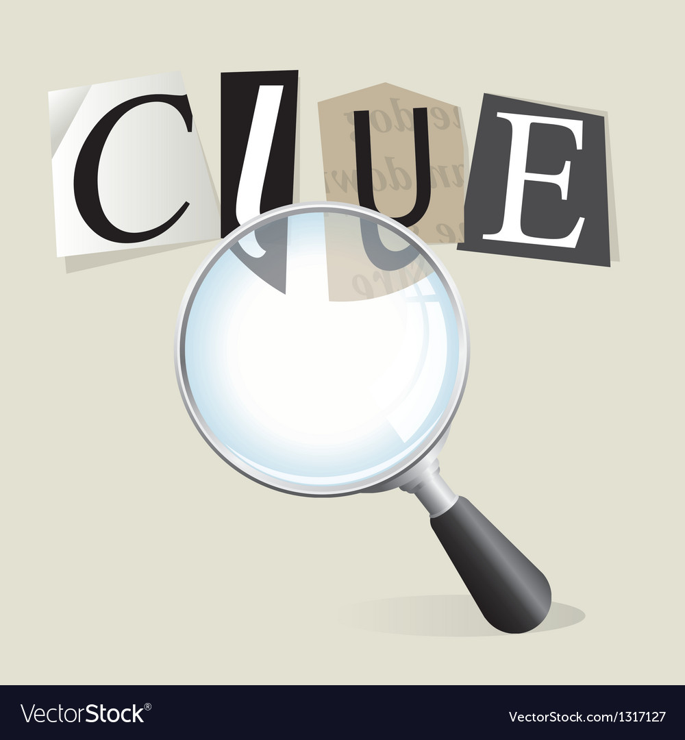 Searching for a clue vector | Price: 1 Credit (USD $1)