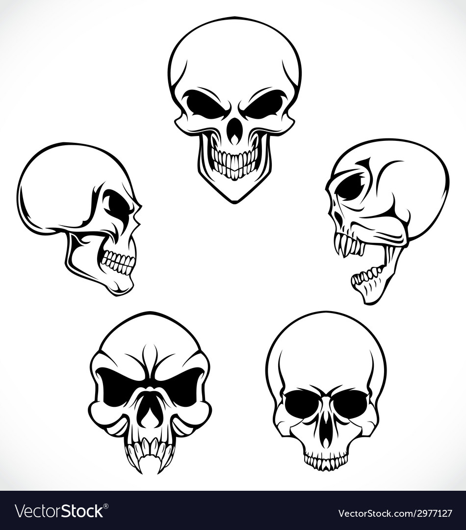 Skulls collection vector | Price: 1 Credit (USD $1)