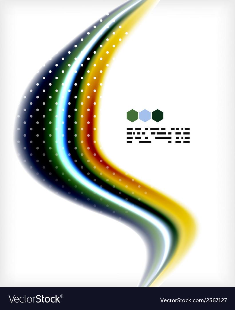 Smooth colorful business elegant wave design vector | Price: 1 Credit (USD $1)