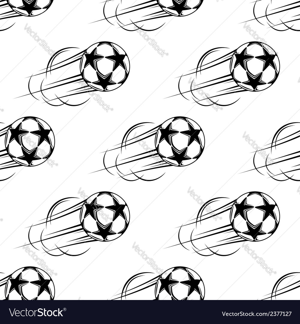Soccer ball speeding through the air vector | Price: 1 Credit (USD $1)