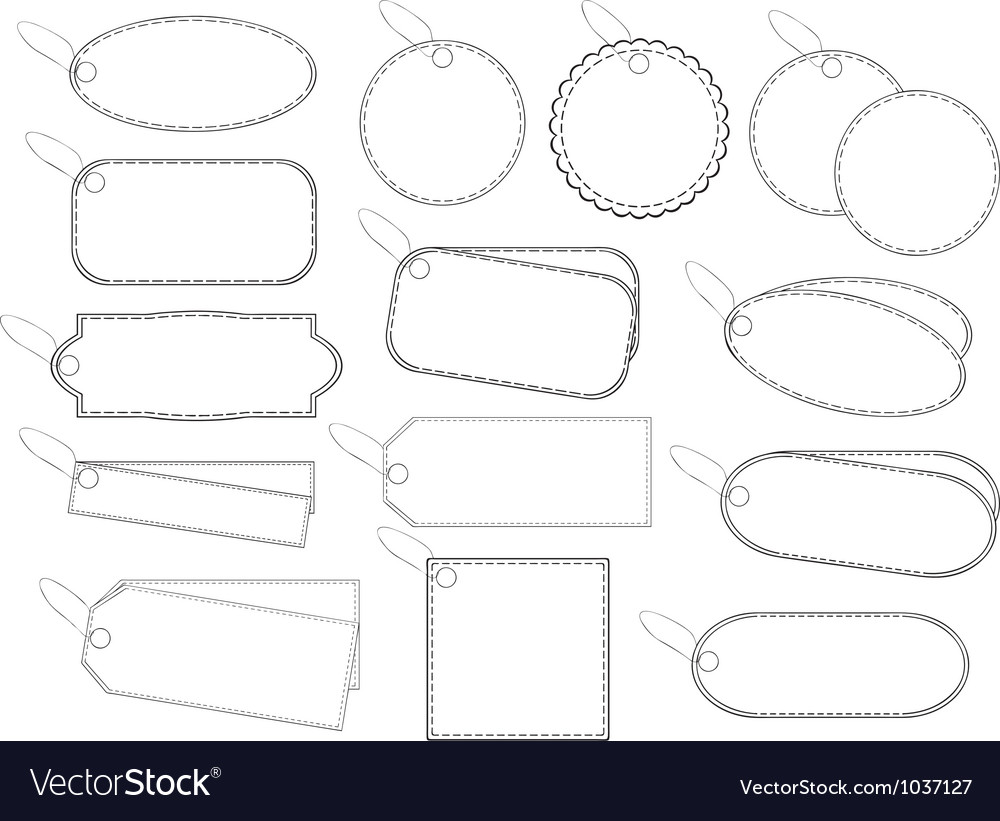 White labels vector | Price: 1 Credit (USD $1)
