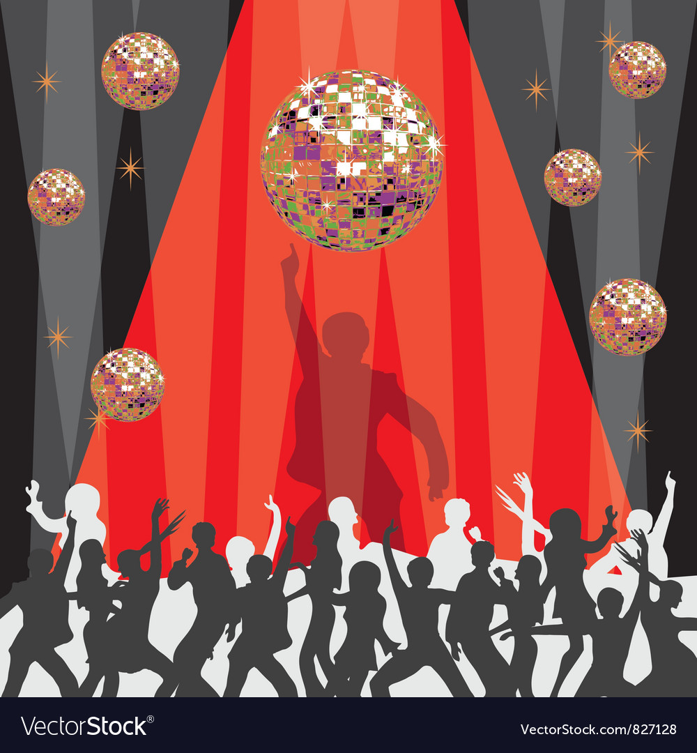 1970 disco party invitation vector | Price: 1 Credit (USD $1)