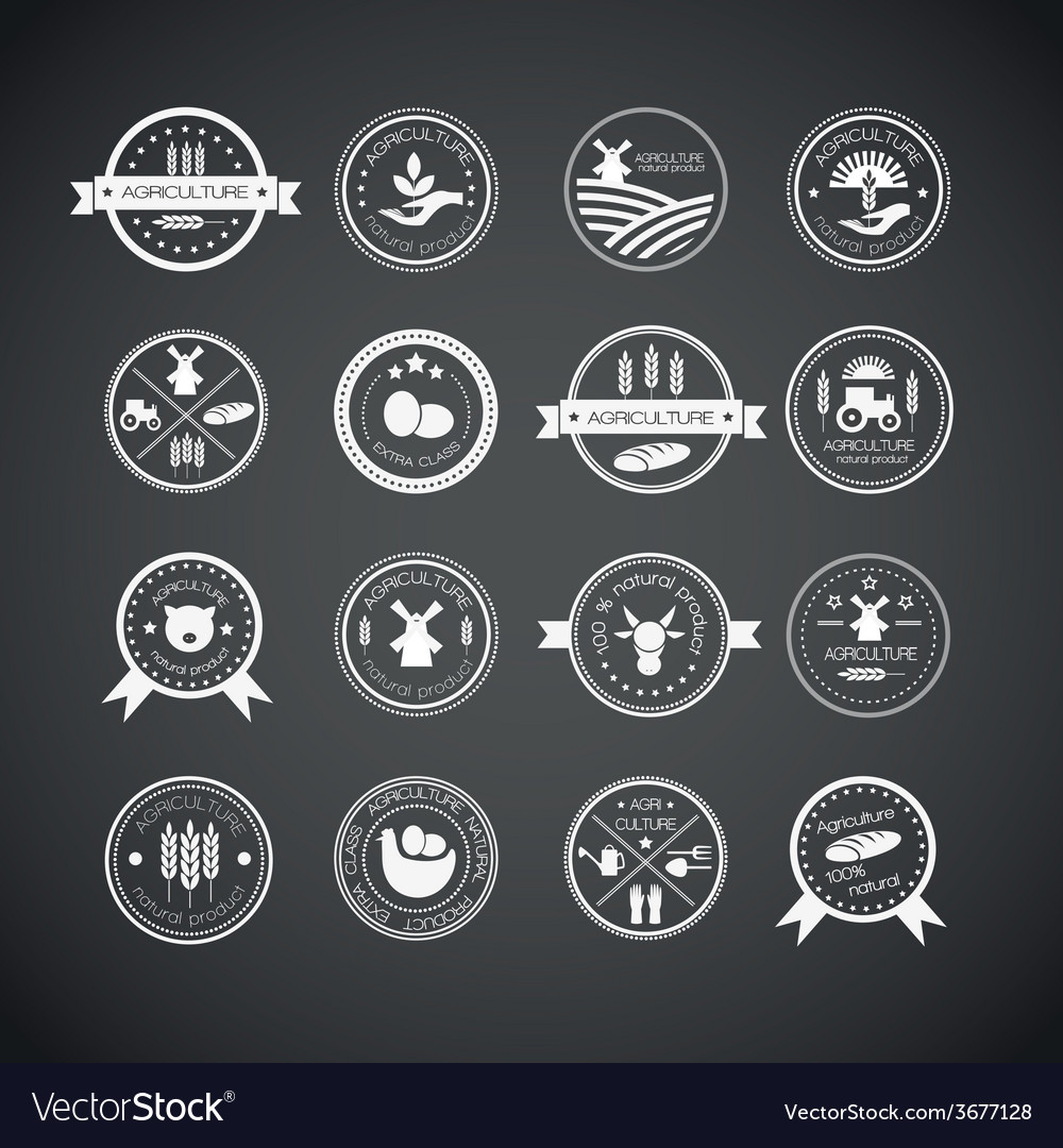 Agriculture and farming logos vector | Price: 1 Credit (USD $1)