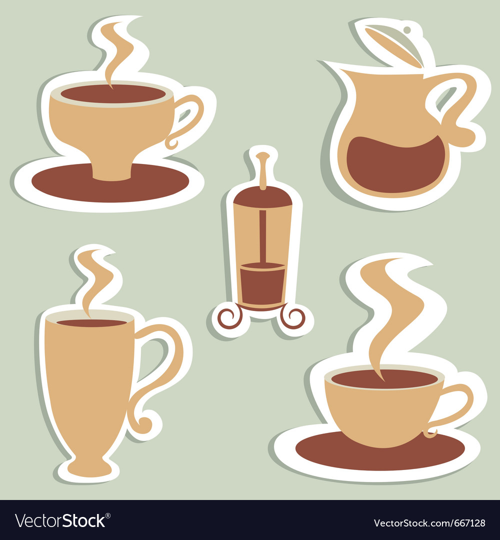 Coffee and tea designs vector | Price: 1 Credit (USD $1)