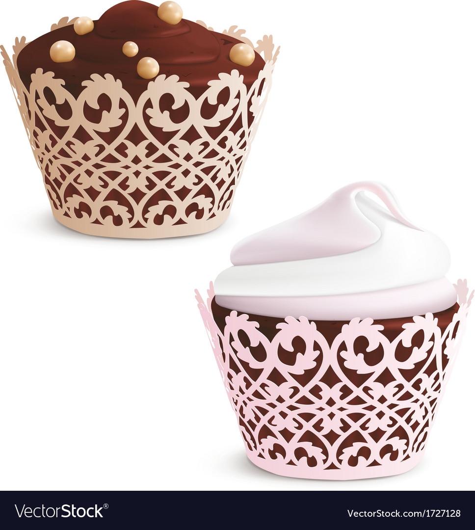 Cupcake and muffin vector | Price: 1 Credit (USD $1)
