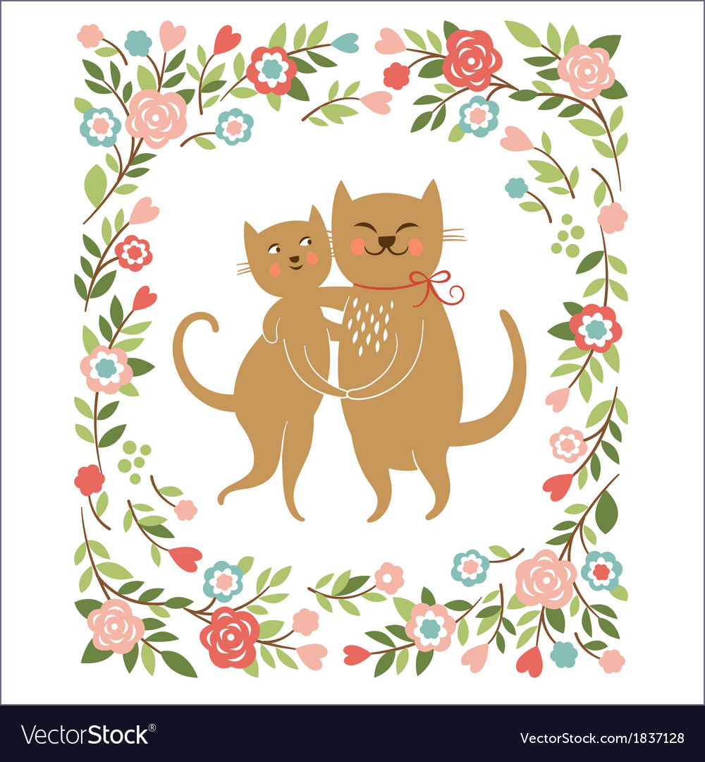 Cute cartoon cats vector | Price: 1 Credit (USD $1)