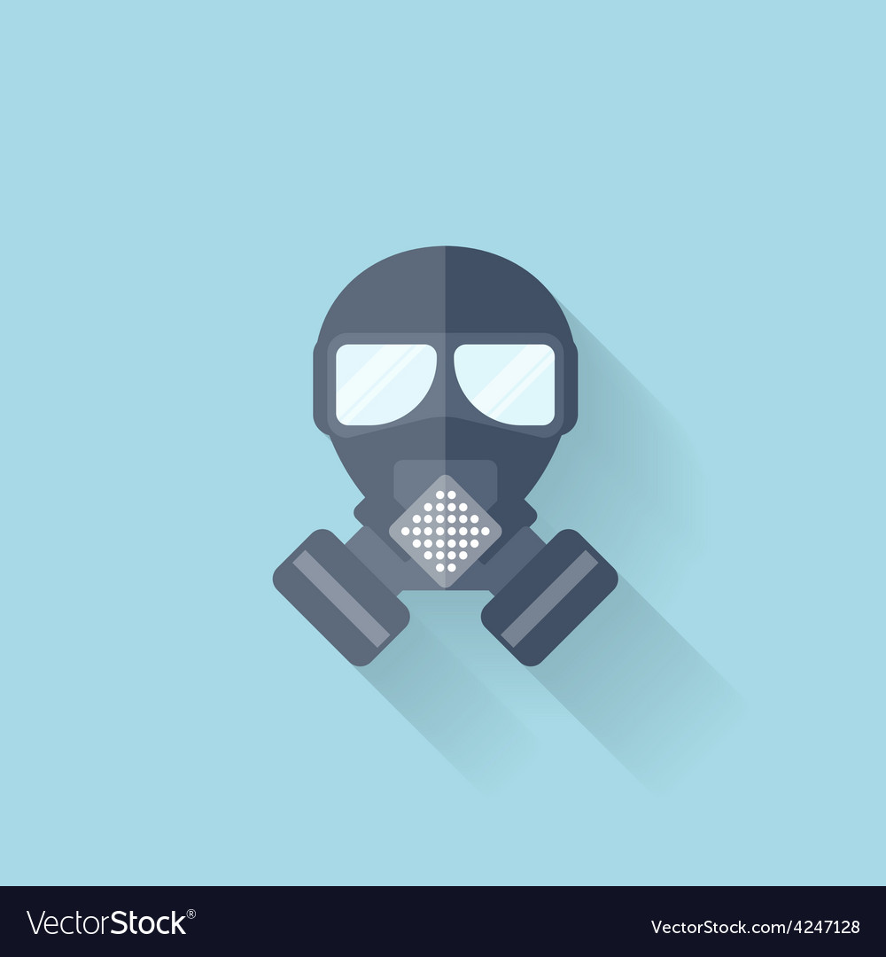 Flat web internet icon gas mask vector | Price: 1 Credit (USD $1)