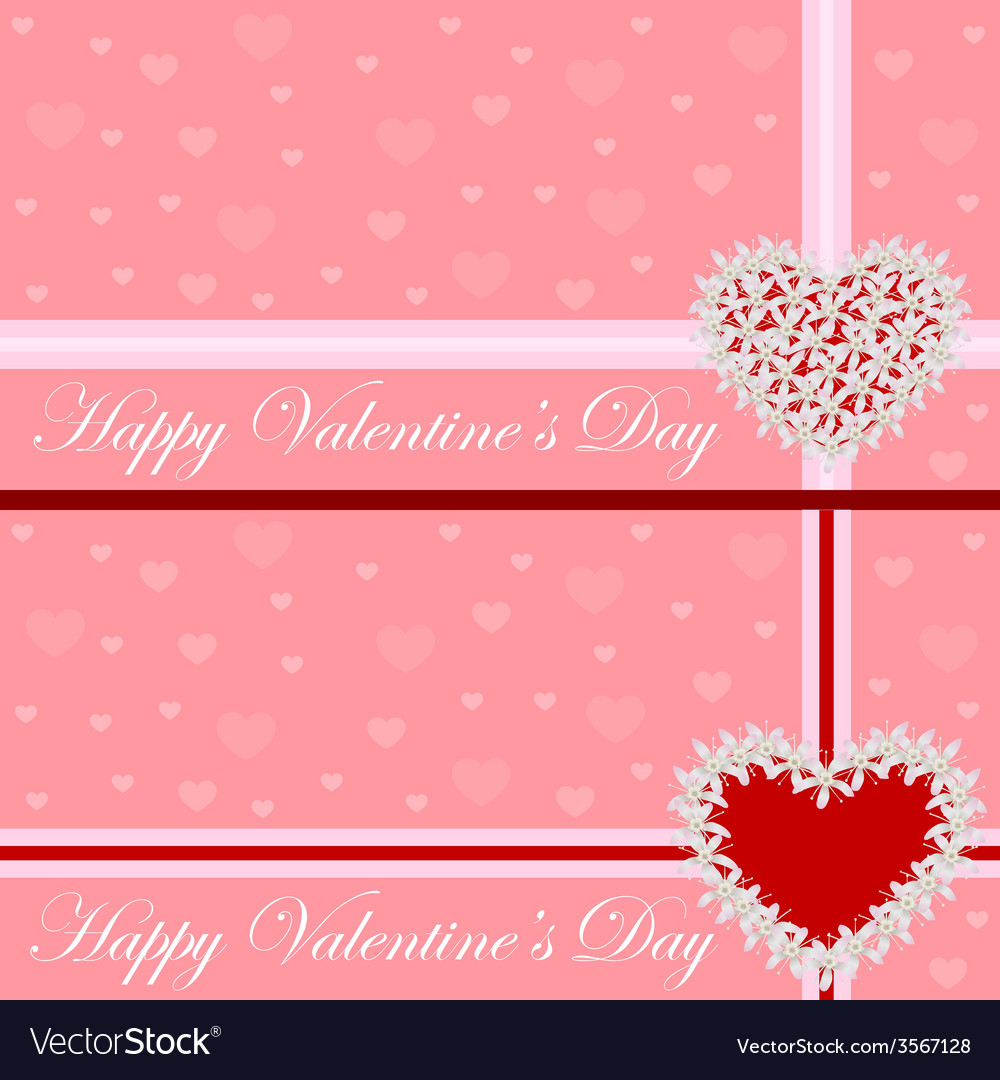 Greeting card - heart of flowers valentines day vector | Price: 1 Credit (USD $1)