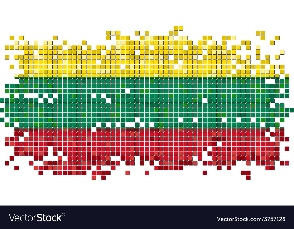 Lithuanian grunge tile flag vector | Price: 1 Credit (USD $1)