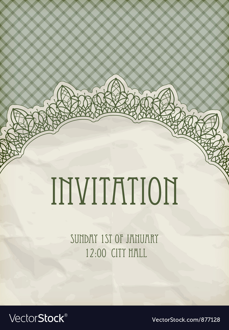 Retro invitation template vector | Price: 1 Credit (USD $1)