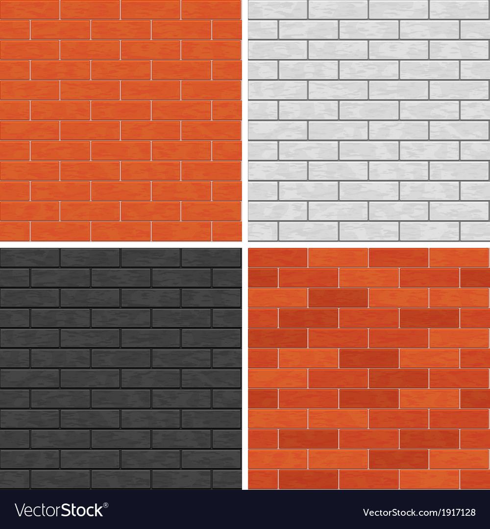 Seamless brick wall patterns vector | Price: 1 Credit (USD $1)