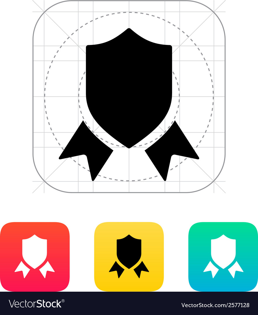 Shield with ribbon icon vector | Price: 1 Credit (USD $1)