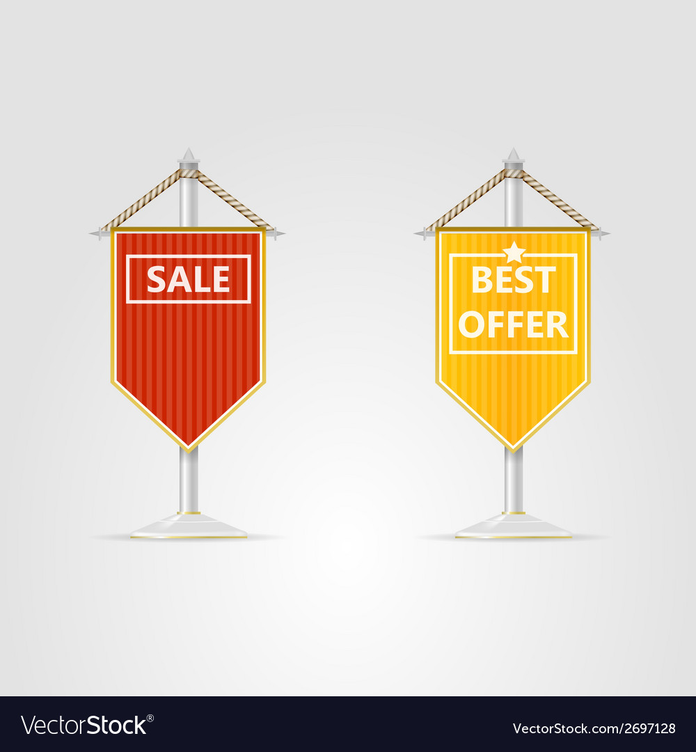 Two pennons for sale vector | Price: 1 Credit (USD $1)