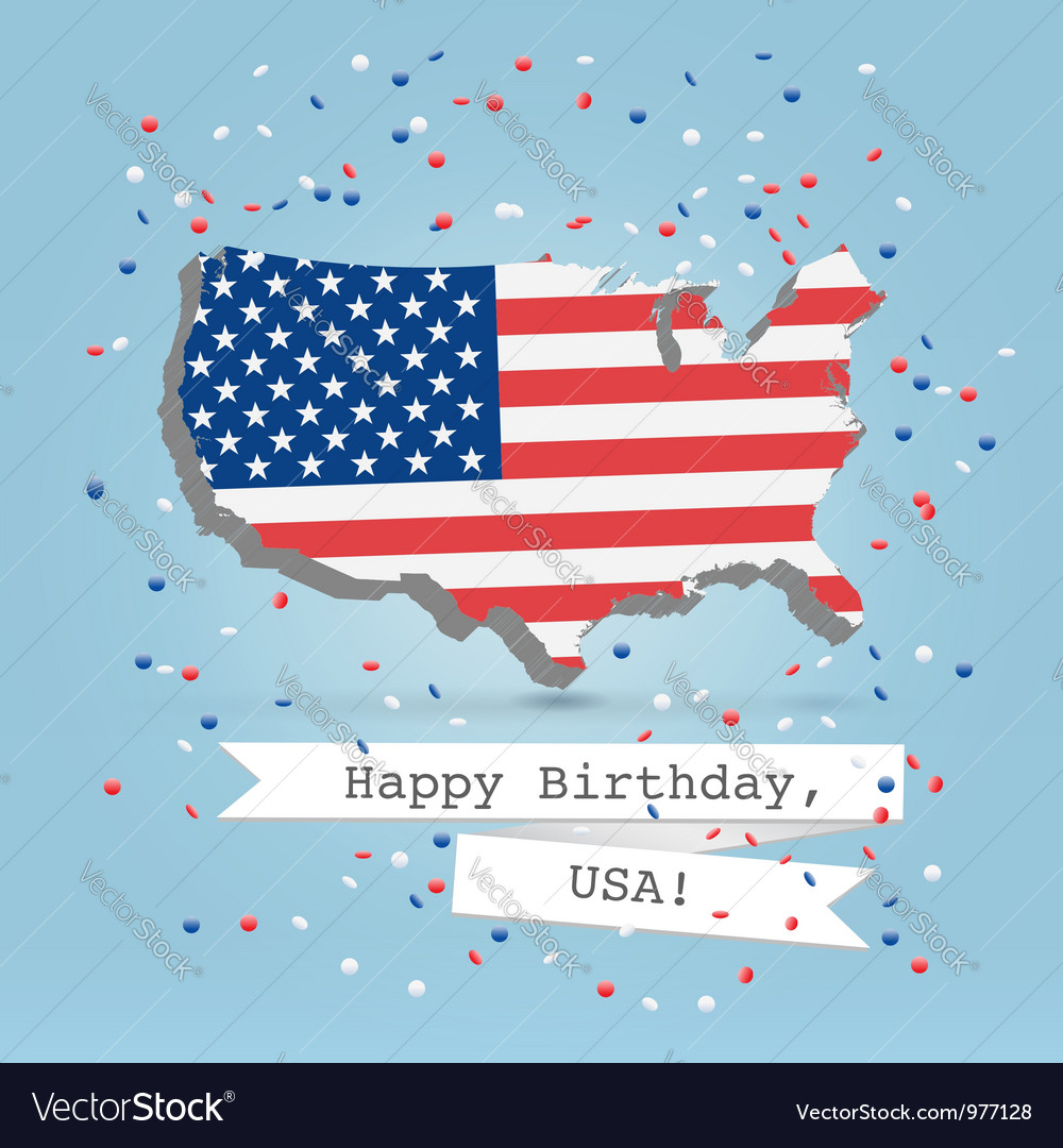 Usa greetings postcard vector | Price:  Credit (USD $)