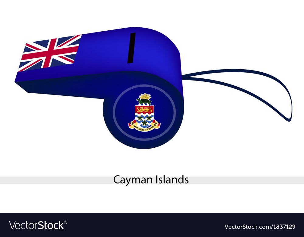 A blue whistle of cayman islands flag vector   Price: 1 Credit (USD $1)