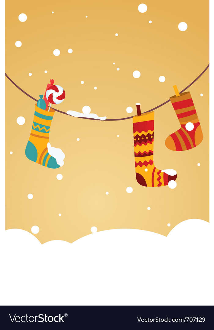 Christmas stocking invitation vector | Price: 1 Credit (USD $1)