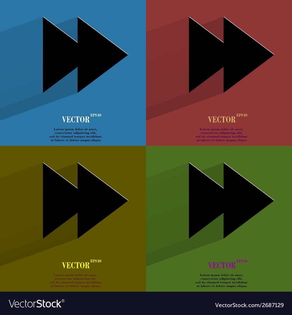 Color set multimedia control flat modern web vector | Price: 1 Credit (USD $1)