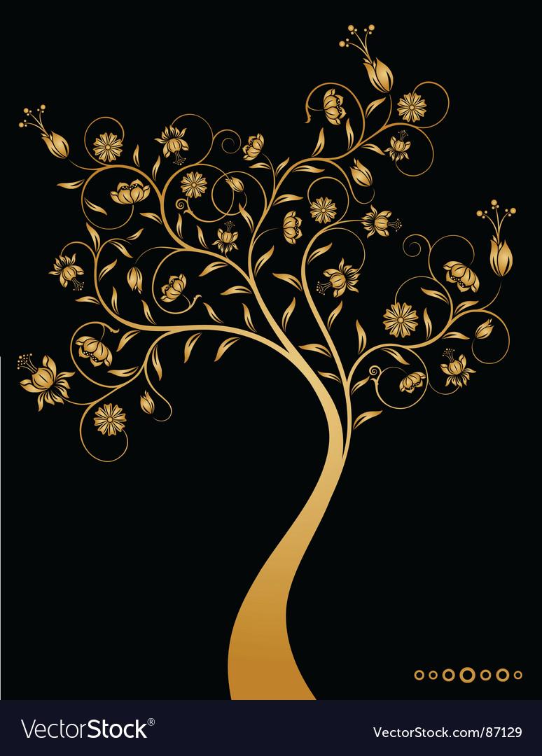 Decorative tree vector | Price: 1 Credit (USD $1)