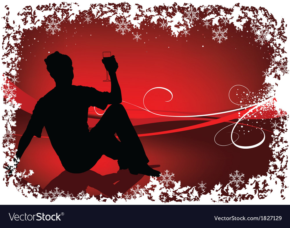 Drinking silhouette vector | Price: 1 Credit (USD $1)