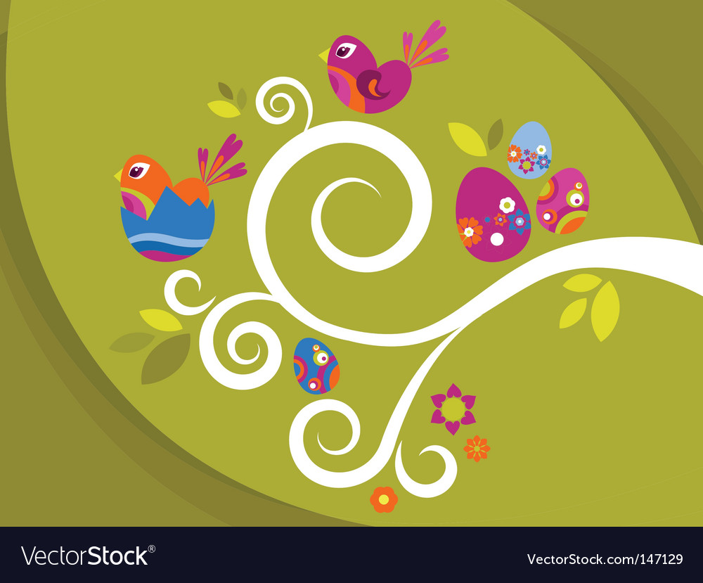 Easter tree vector | Price: 1 Credit (USD $1)