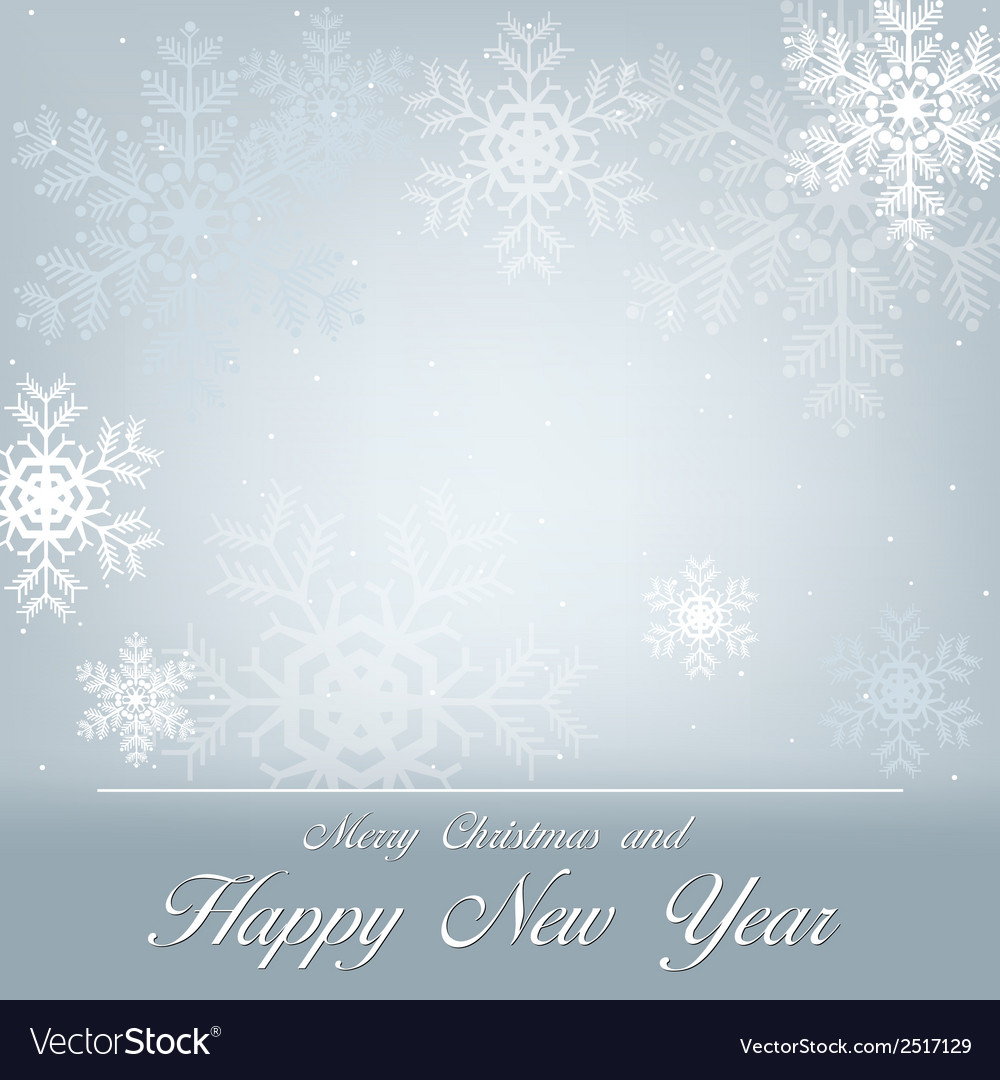 Greeting with snowflakes vector | Price: 1 Credit (USD $1)