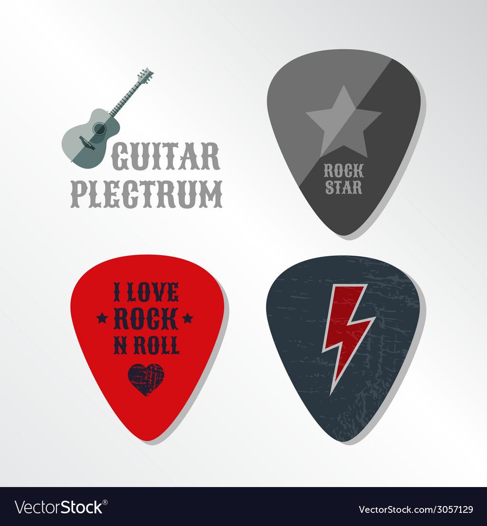 Guitar plectrum vector