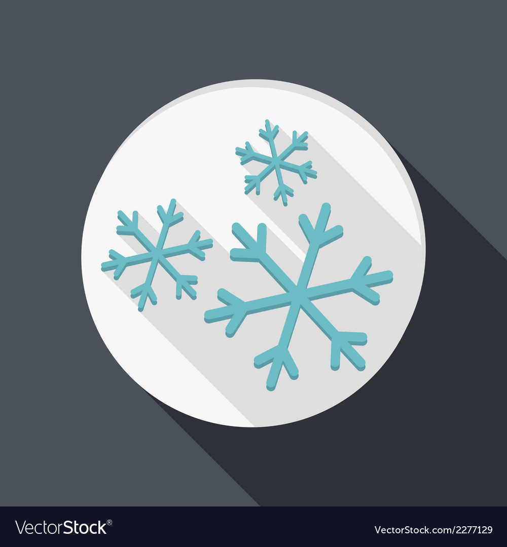 Paper flat icon snow vector | Price: 1 Credit (USD $1)