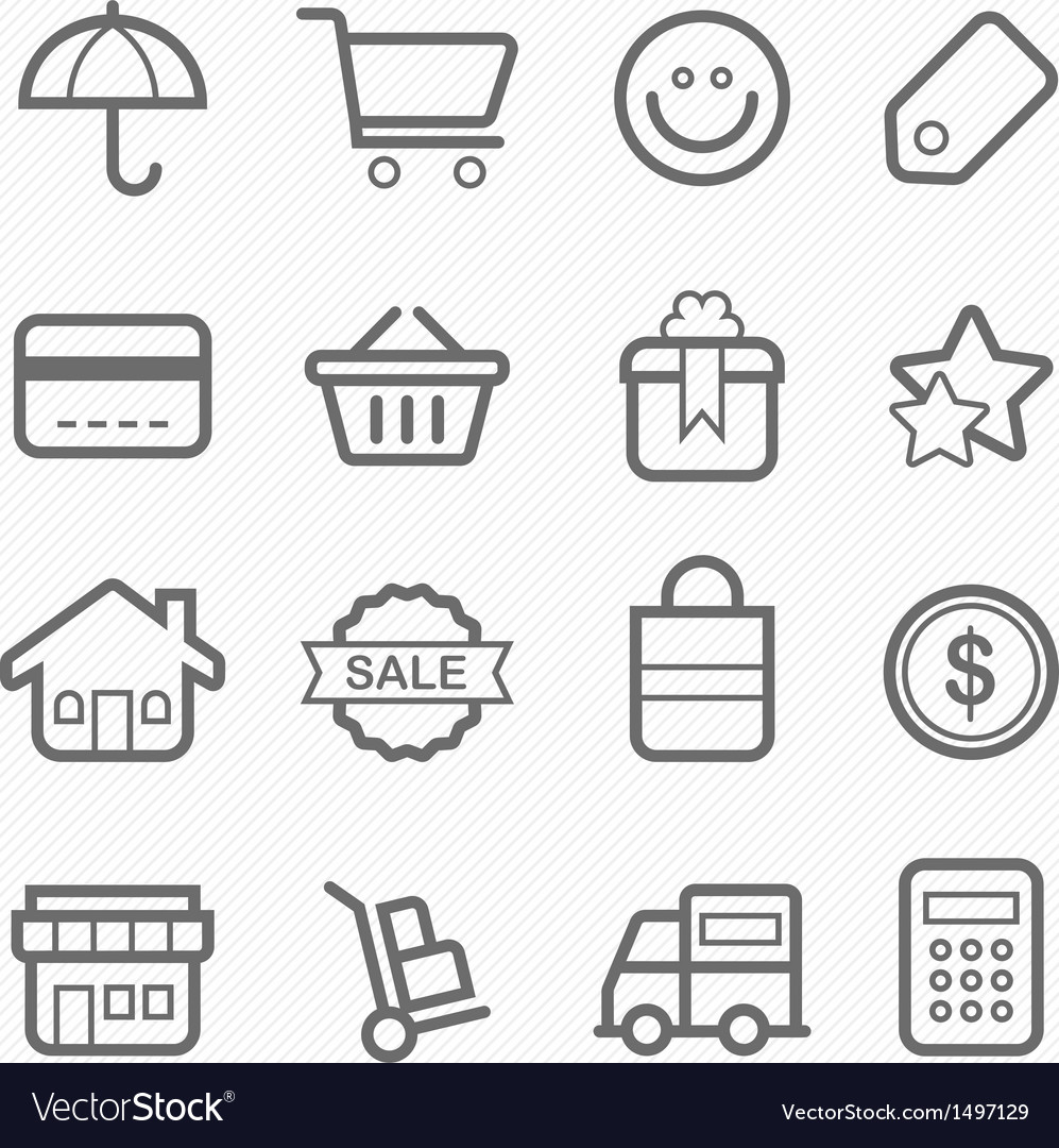 Shopping symbol line icon vector | Price: 1 Credit (USD $1)
