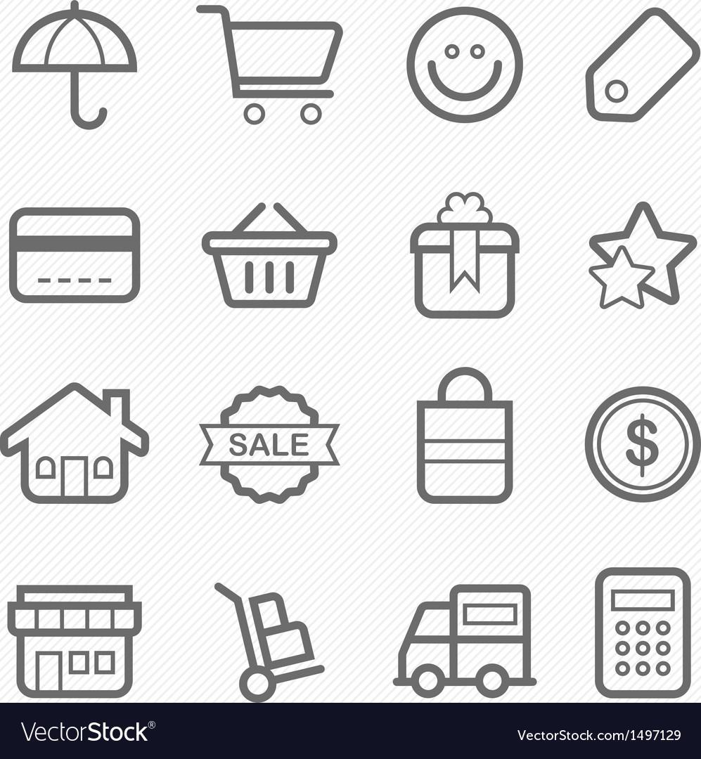 Shopping symbol line icon vector | Price: 1 Credit (USD $1)