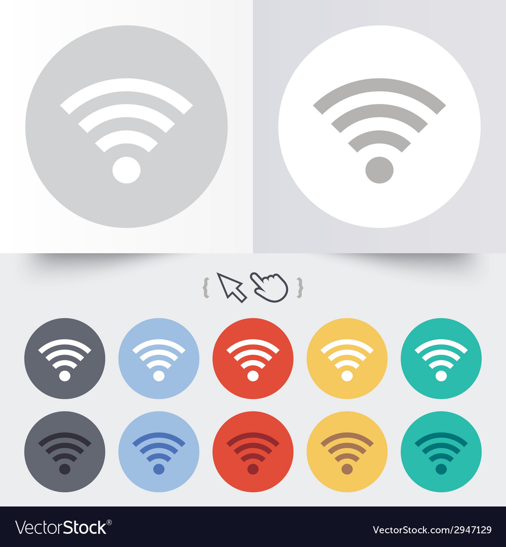 Wifi sign wi-fi symbol wireless network vector | Price: 1 Credit (USD $1)