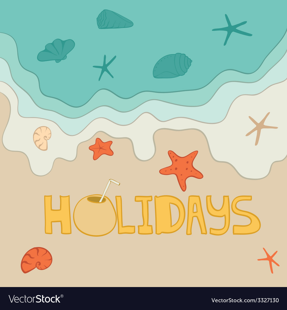 Beachholidays1 vector | Price: 1 Credit (USD $1)