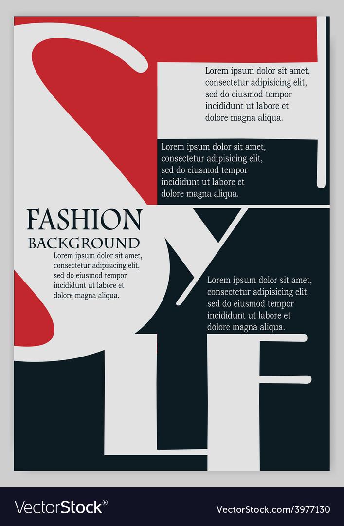 Fashion background typographics vector | Price: 1 Credit (USD $1)