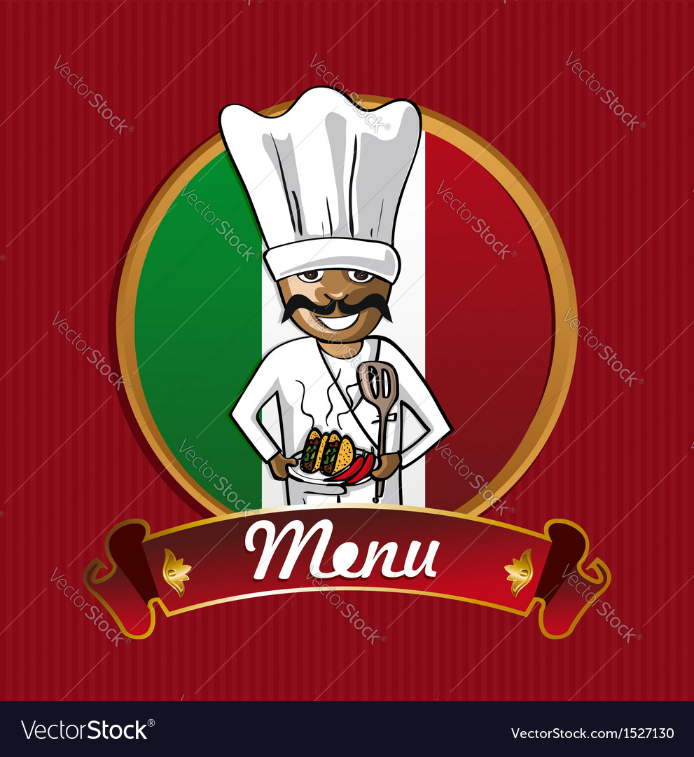 Food from mexico menu poster vector | Price: 1 Credit (USD $1)