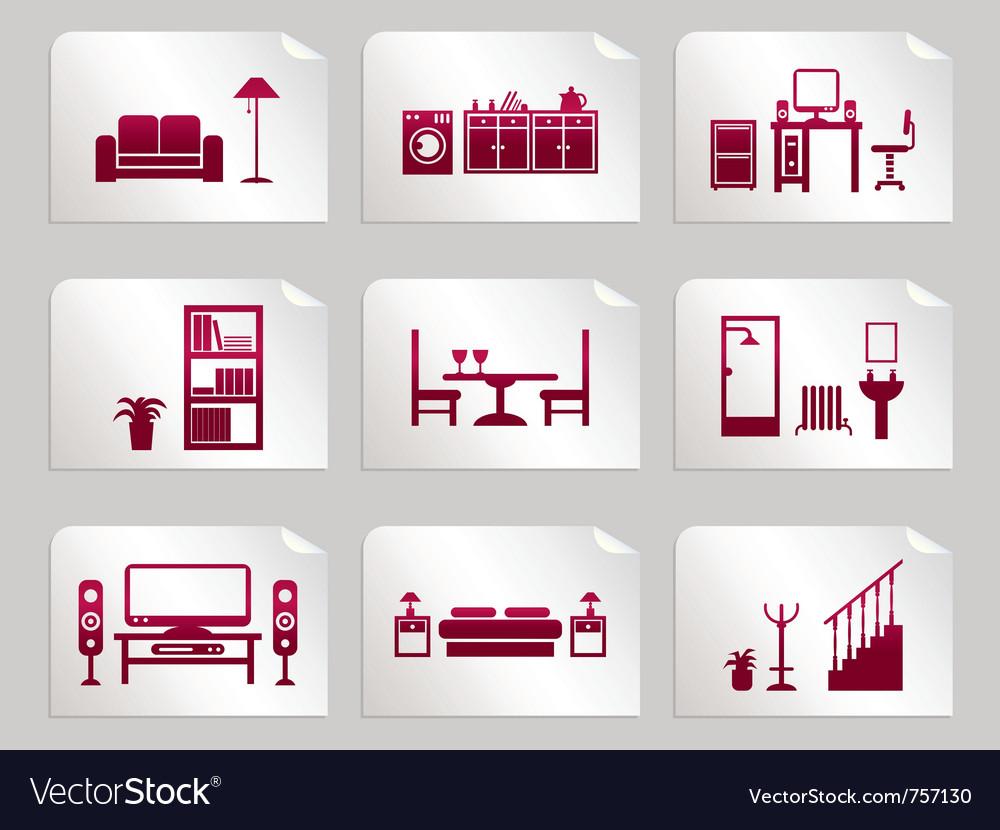Furniture stickers vector   Price: 1 Credit (USD $1)
