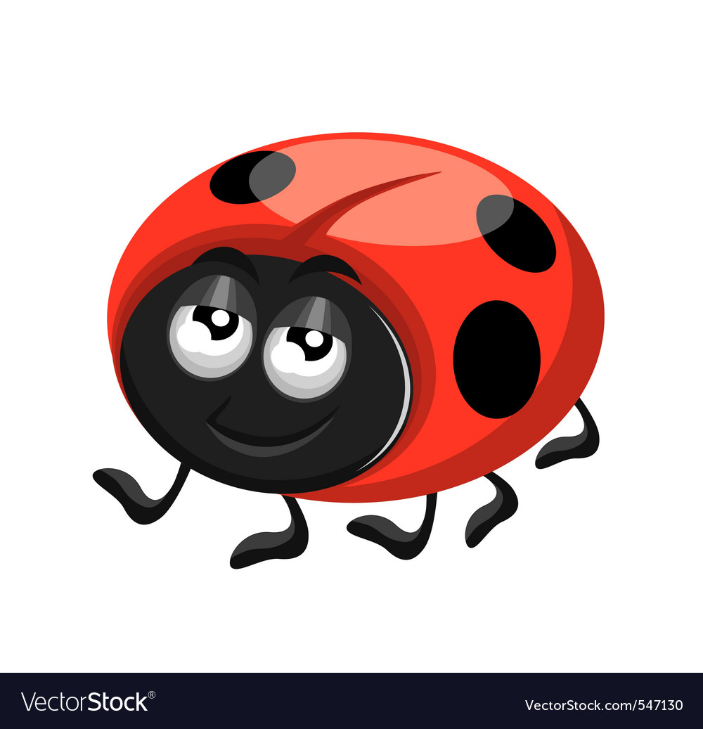 Happy ladybird vector | Price: 1 Credit (USD $1)