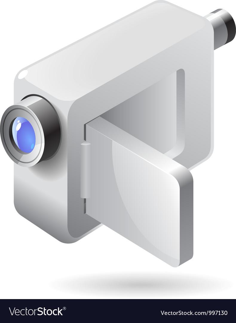 Isometric icon of video camera vector | Price: 1 Credit (USD $1)