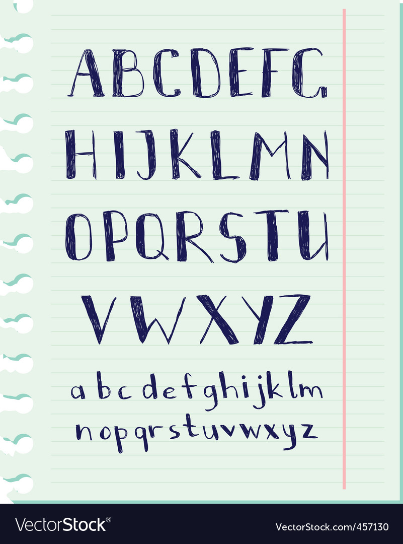 Pen alphabet vector | Price: 1 Credit (USD $1)