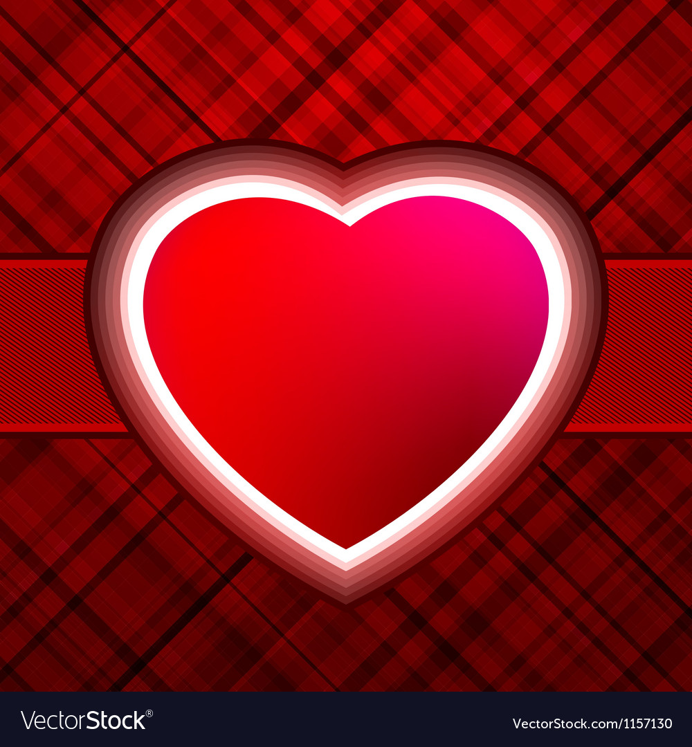 Red glow heart valentines day card with eps 8 vector | Price: 1 Credit (USD $1)