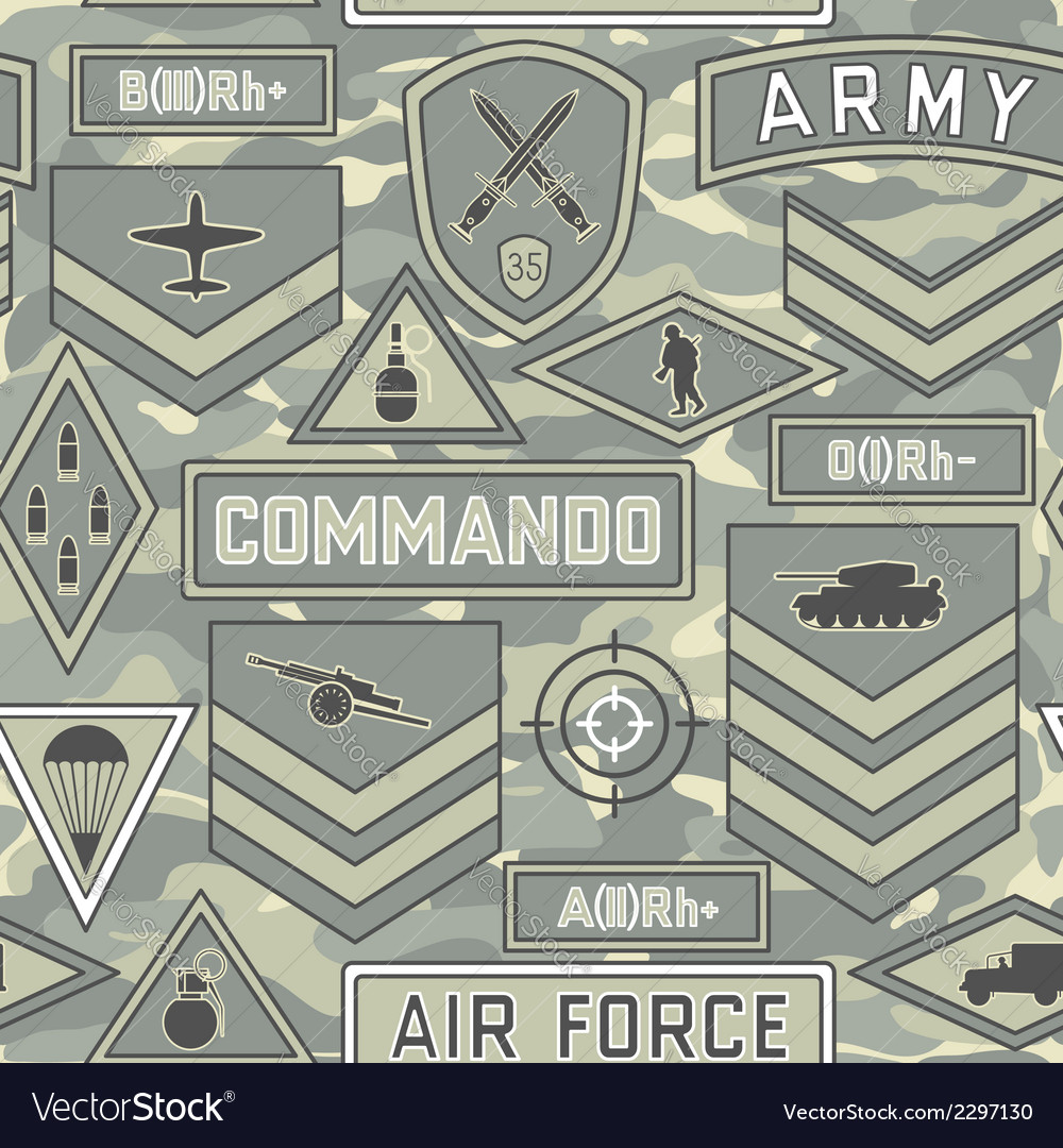 Seamless military pattern 11 vector | Price: 1 Credit (USD $1)