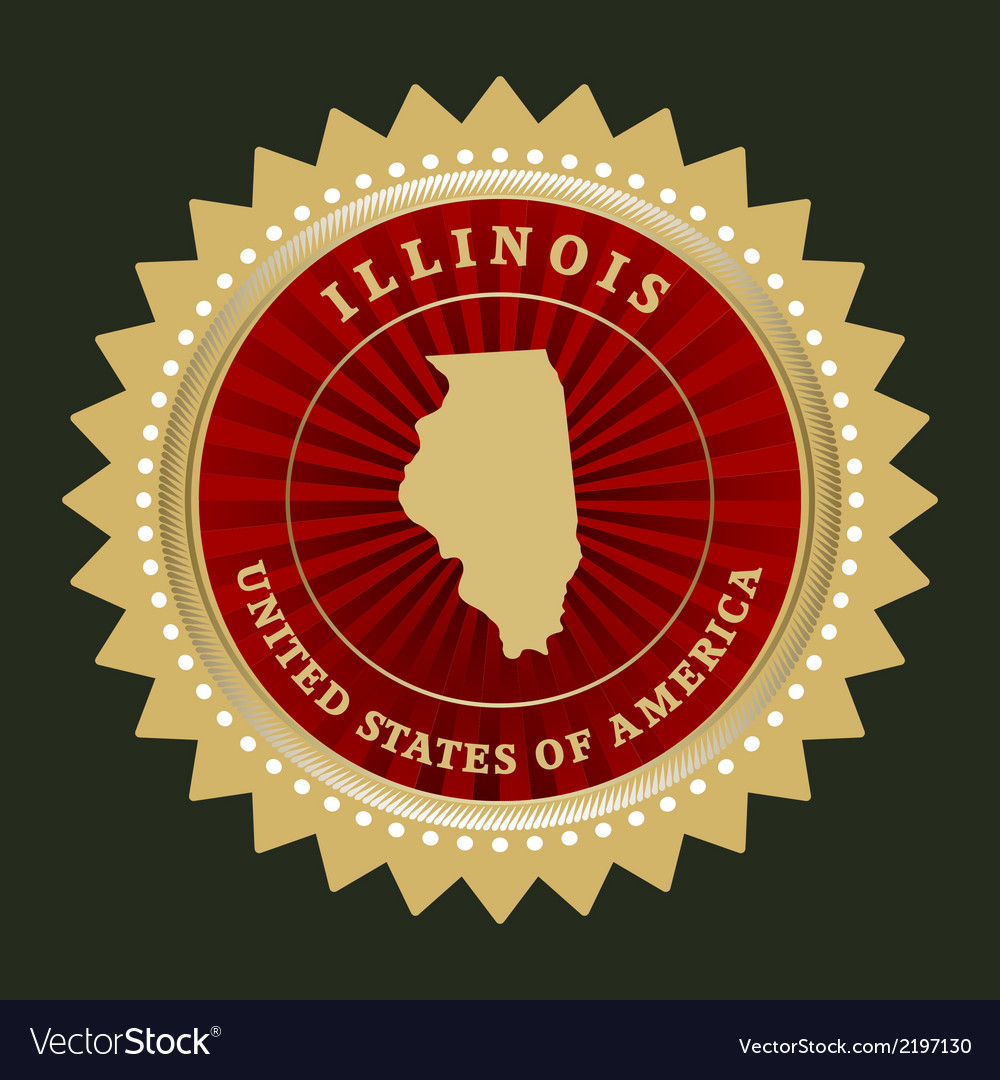 Star label illinois vector | Price: 1 Credit (USD $1)