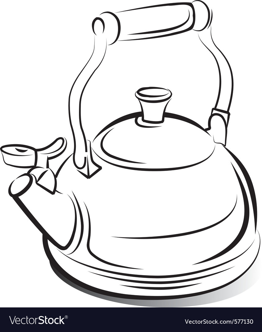 Teapot kettle vector | Price: 1 Credit (USD $1)