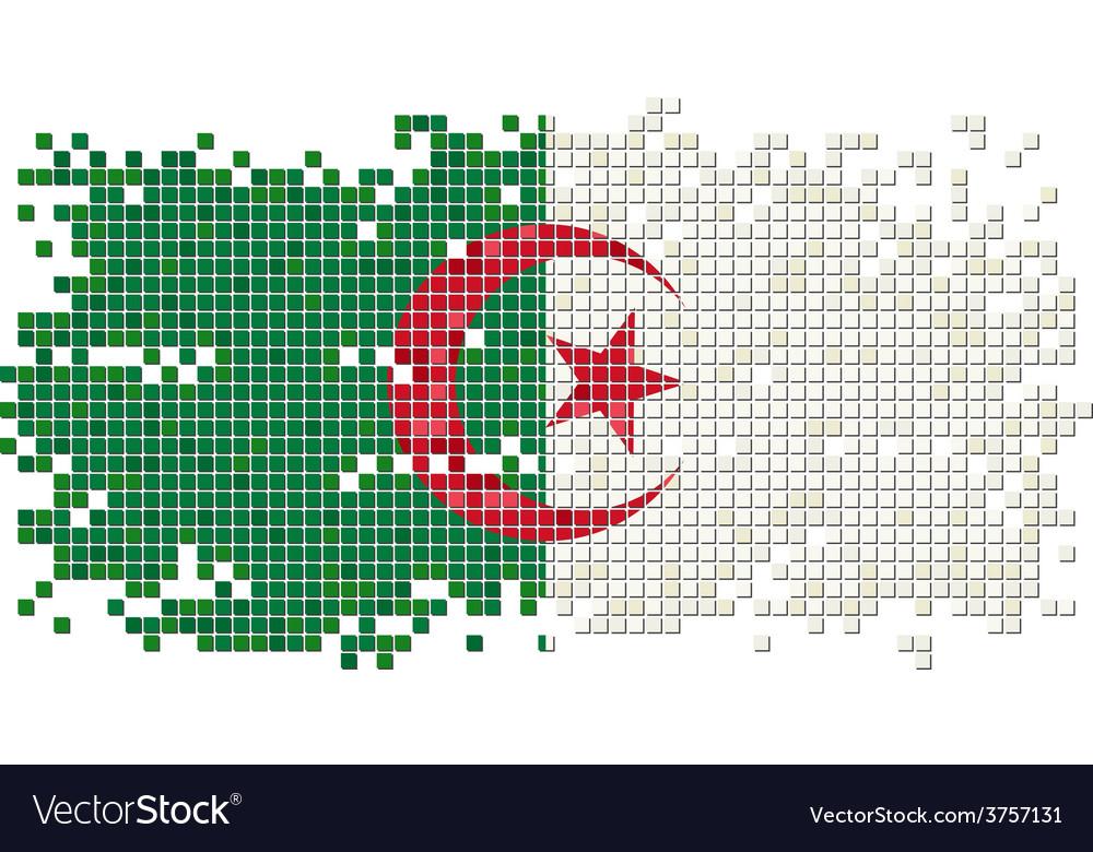 Algerian grunge tile flag vector | Price: 1 Credit (USD $1)