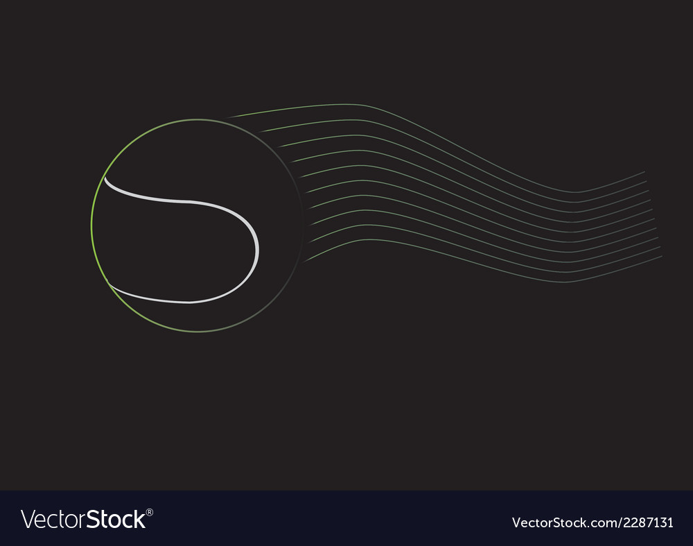 Black tennis ball vector | Price: 1 Credit (USD $1)