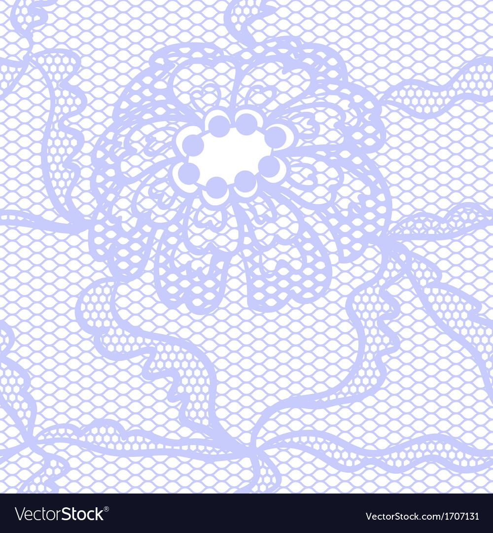 Blue lace fabric seamless pattern vector | Price: 1 Credit (USD $1)