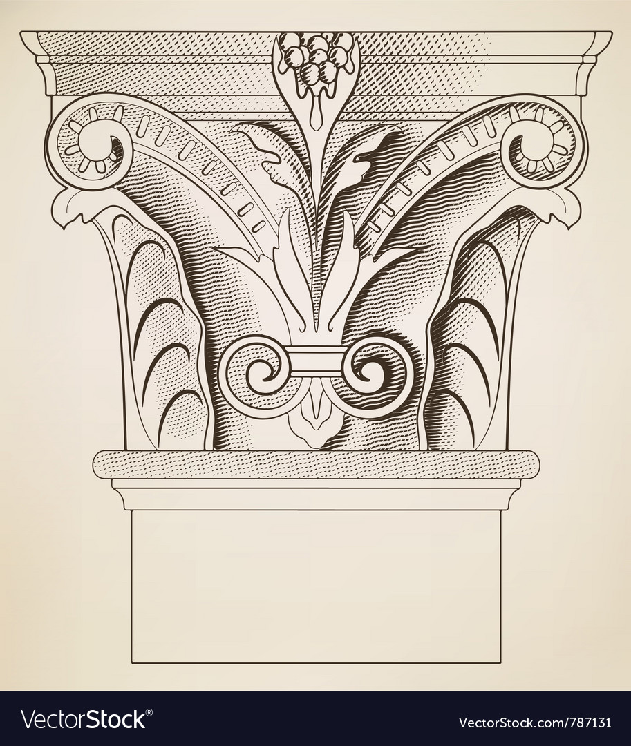 Engraving column vector | Price: 1 Credit (USD $1)