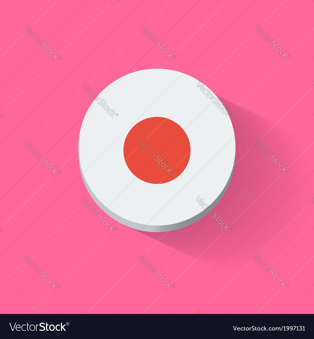 Round icon with flag of japan vector | Price: 1 Credit (USD $1)