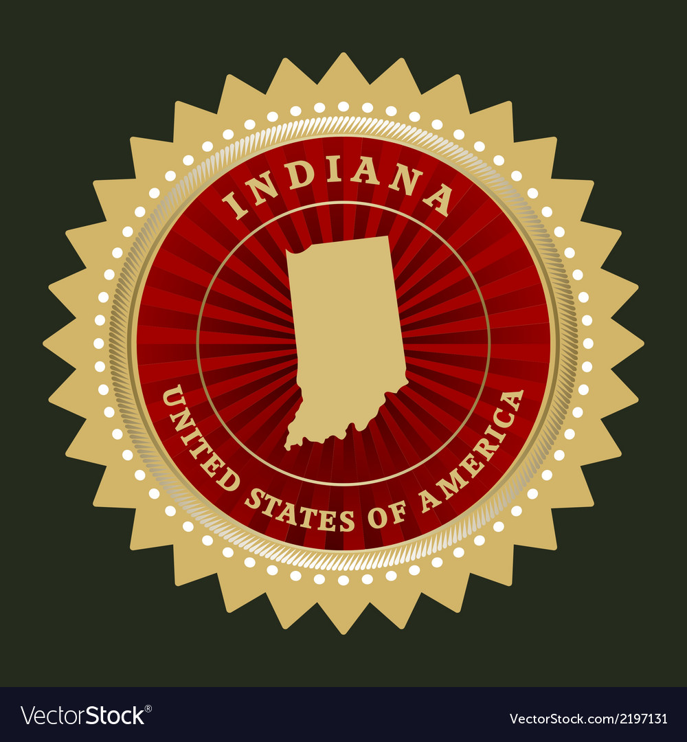 Star label indiana vector | Price: 1 Credit (USD $1)