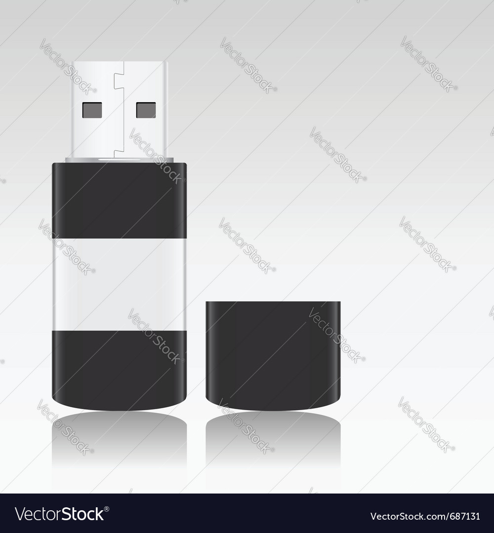 Usb flash drive vector | Price: 1 Credit (USD $1)